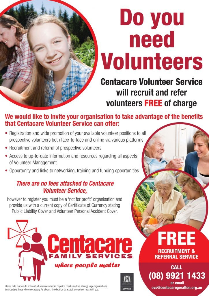 2018 Volunteer Of The Year Award Centacare Family Services